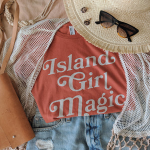 Island Girl Magic Tee - Achote | Guam pickup only