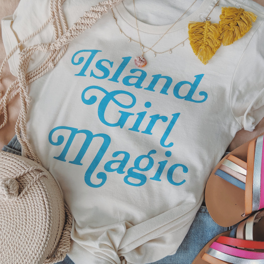 Island Girl Magic Tee - Seaside