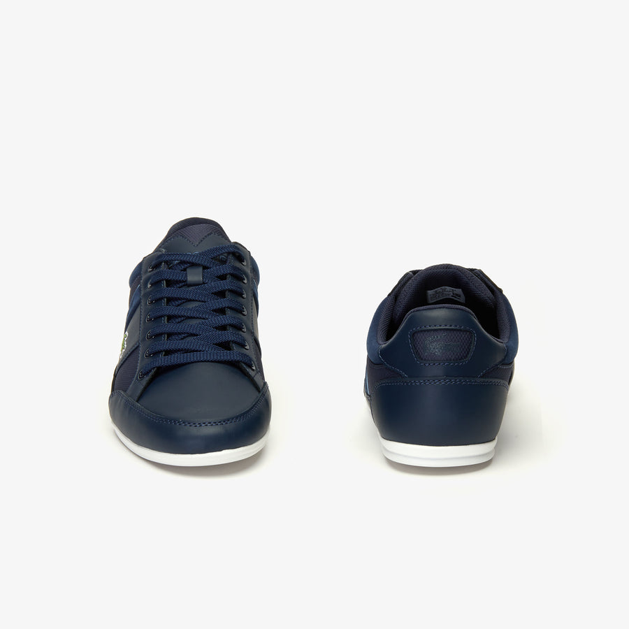 Men's Chaymon Synthetic and Textile Trainers--Navy Blue/Light Blule