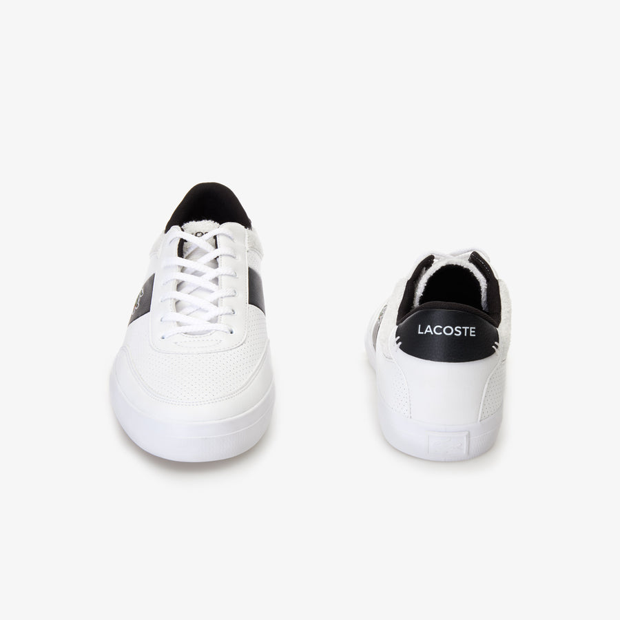 Men's Court-Master Leather Trainers--White/Black