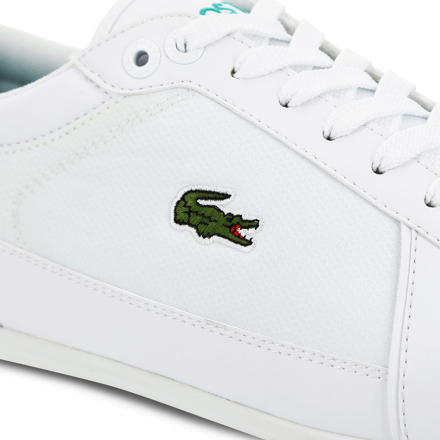 Men's Evara Sport Synthetic and Textile Trainers--White/Green