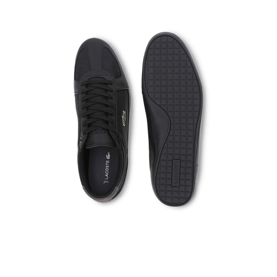 Men's Evara Sport Synthetic and Textile Trainers--Black/Dark Gray