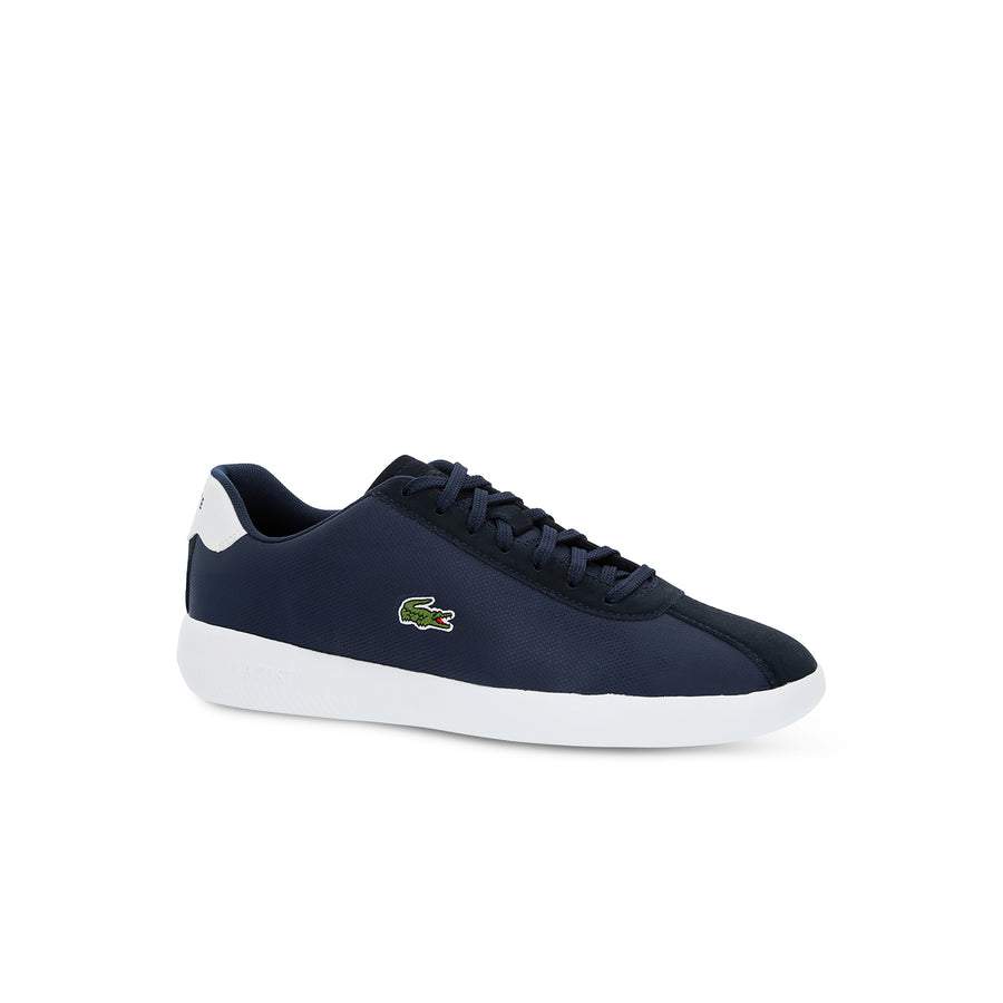 Men's Avance Textile and Suede Trainers--Navy Blue/White