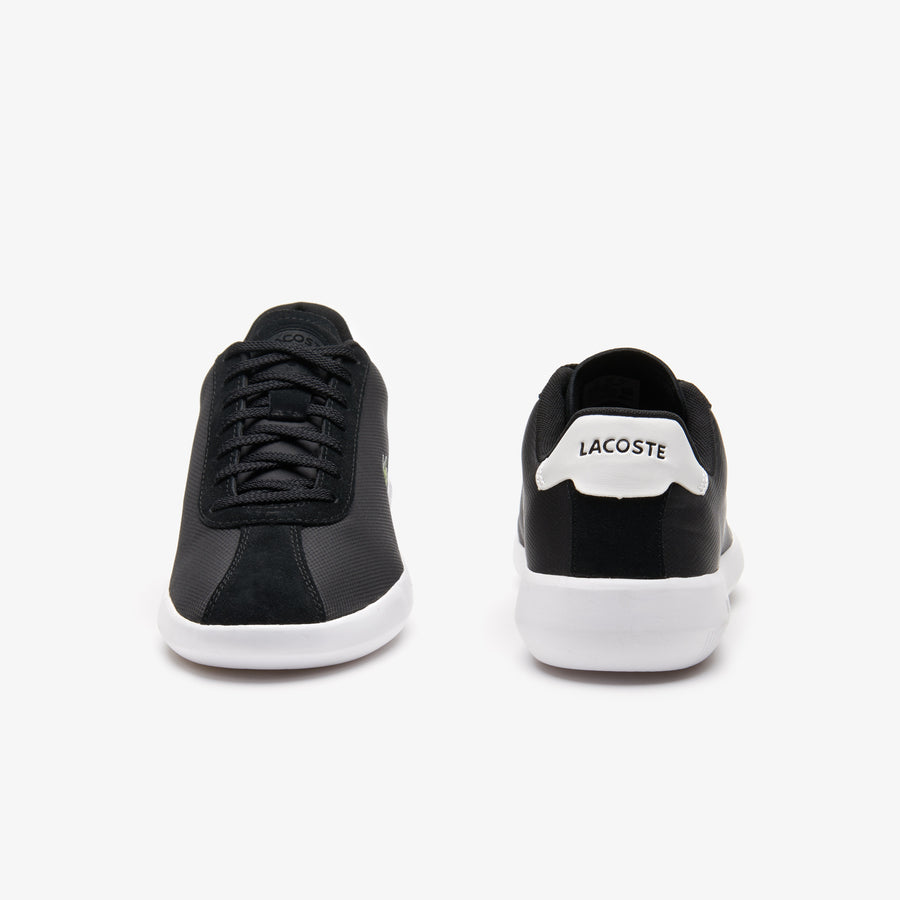 Men's Avance Textile and Suede Trainers--Black/White