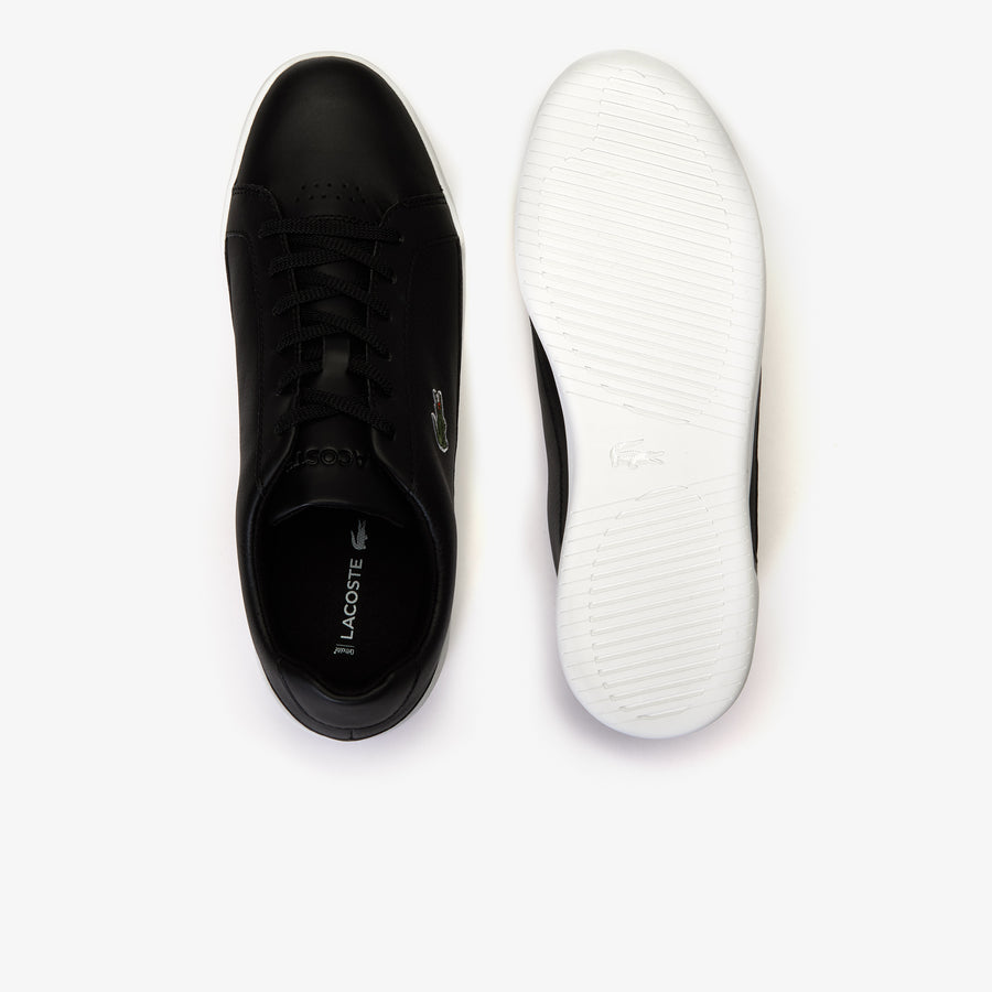 Men's Challenge Leather and Synthetic Trainers--Black/White
