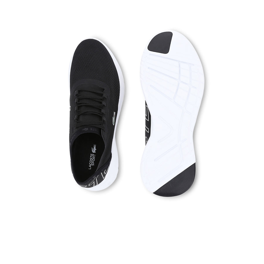 Men's Lt Fit Textile Sneakers--Black/White