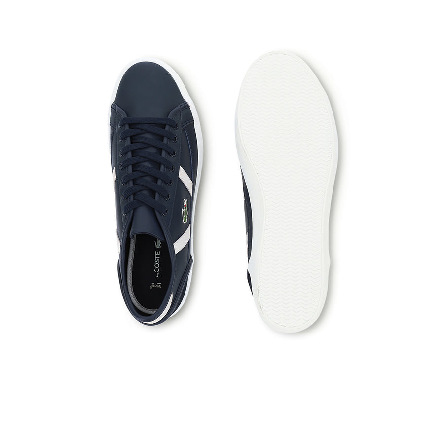 Men's Sideline 3 Trainers in Leather and Suede--Navy/Off White