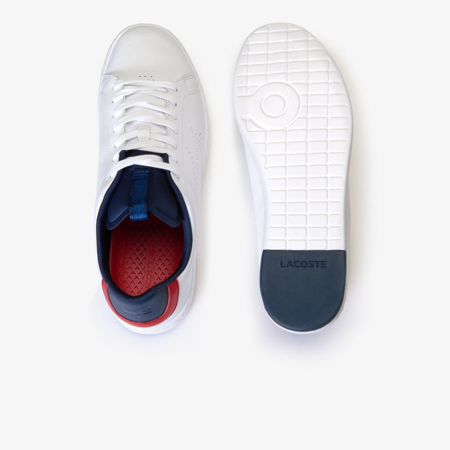 Men's Carnaby Evo Lightweight Leather Trainers--White/Navy/Red