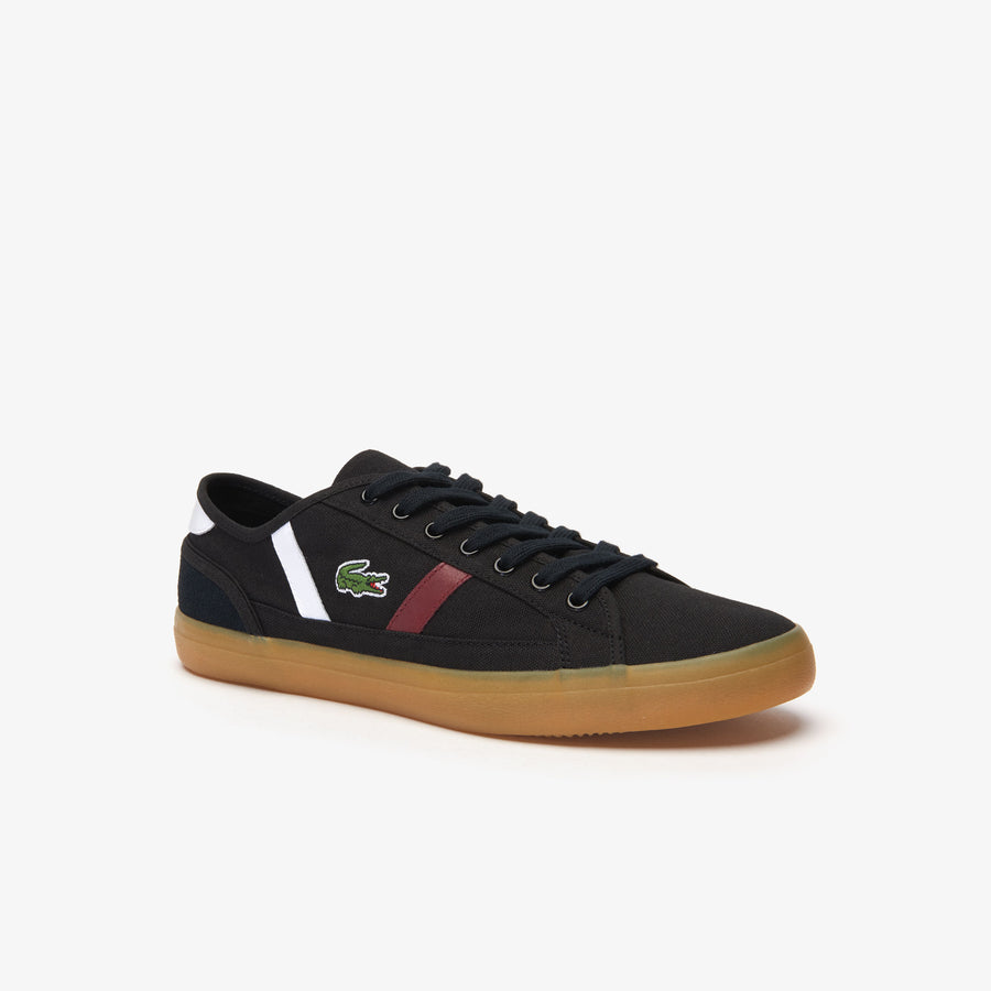 Men's Sideline 319 1 Canvas and Leather Sneakers--Black / White