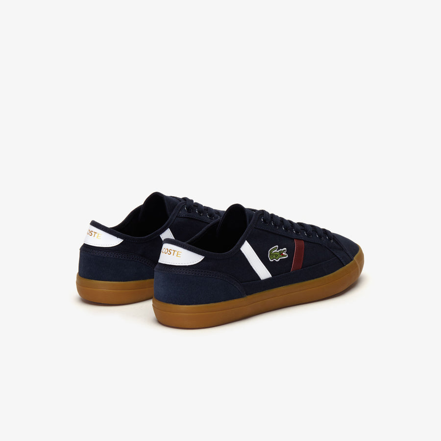 Men's Sideline 319 1 Canvas and Leather Sneakers--Navy Blue / White / Dark Red