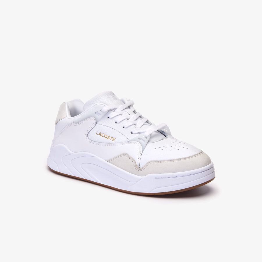 Men's Court Slam 319 1 Leather Sneakers--White