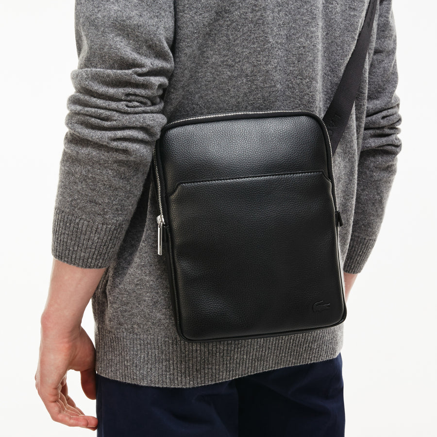 Men's Gaël Coated Canvas Flat Zip Bag
