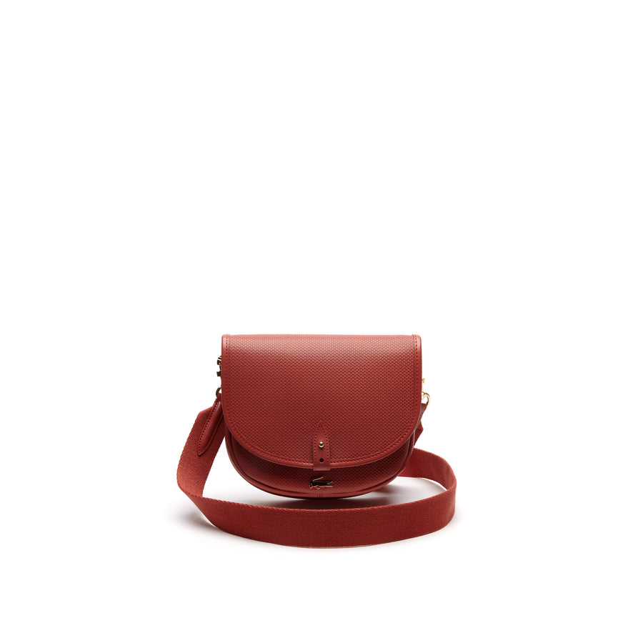 Women's Chantaco Piqué Leather Flap Crossover Bag--Mineral Red