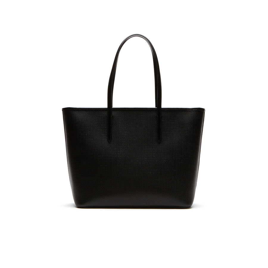78cab26148 Women's Chantaco Large Zippered Piqué Leather Tote Bag – Lacoste ...