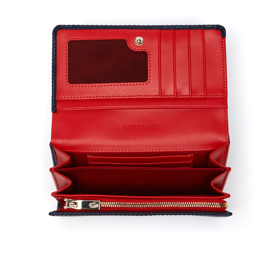 Women's Chantaco Bicolor Piqué Leather Six Card Wallet