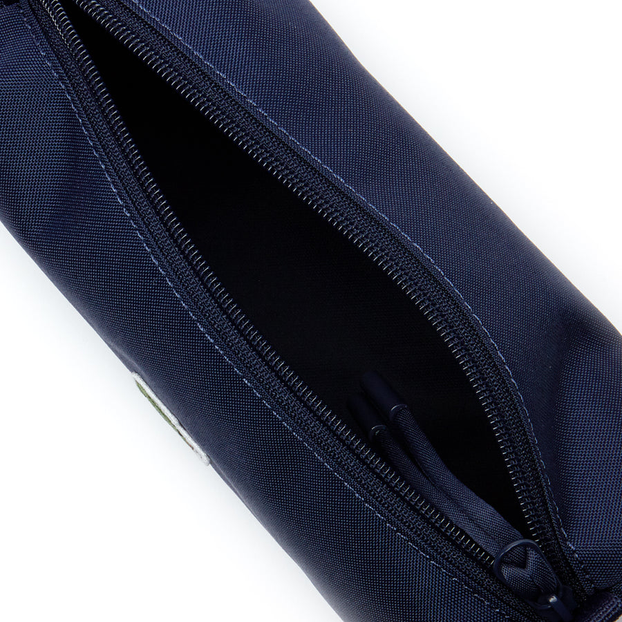 Men's Néocroc Monochrome Canvas Zip Pouch--Peacot