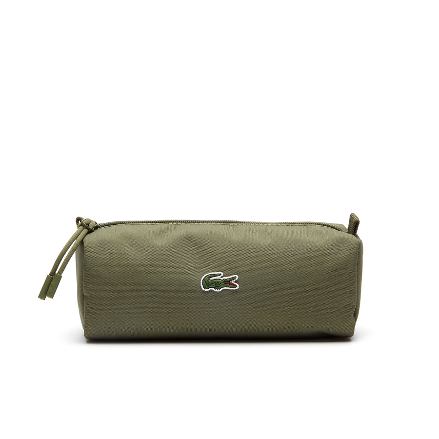 Men's Néocroc Monochrome Canvas Zip Pouch--Olive Branch