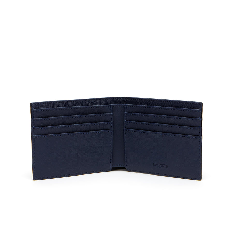Men's Classic Petit Piqué Six Card Wallet--Peacot