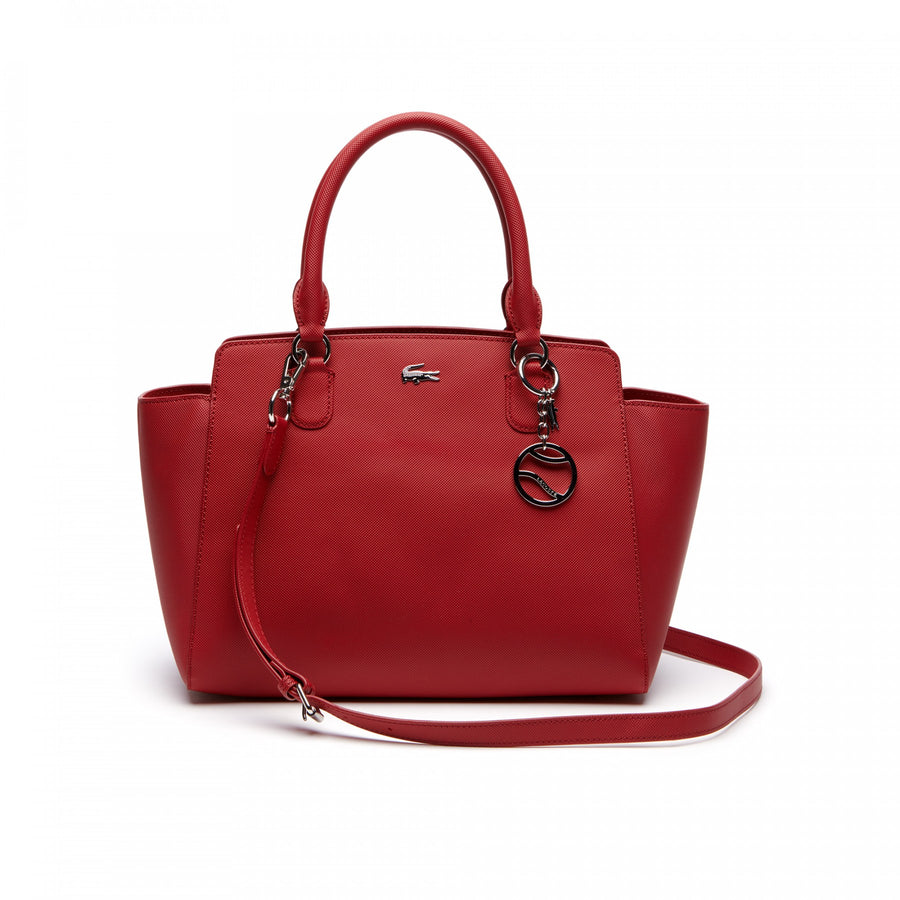 Women's Daily Classic Gusseted Coated Piqué Canvas Tote Bag--Garnet