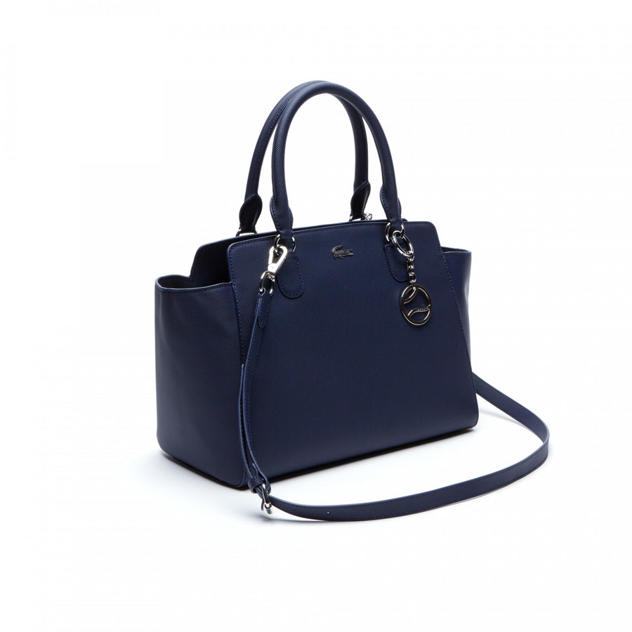 Women's Daily Classic Gusseted Coated Piqué Canvas Tote Bag--Peacot