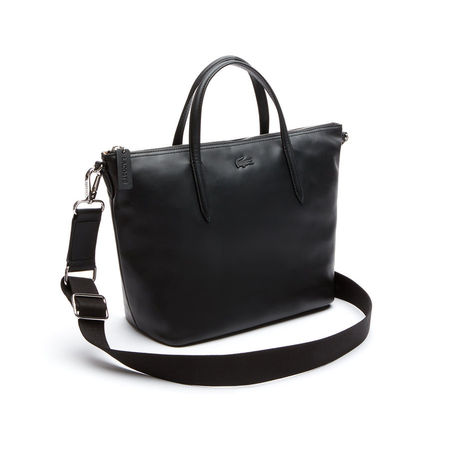 Women's L.12.12 Leather Zip Tote--Black