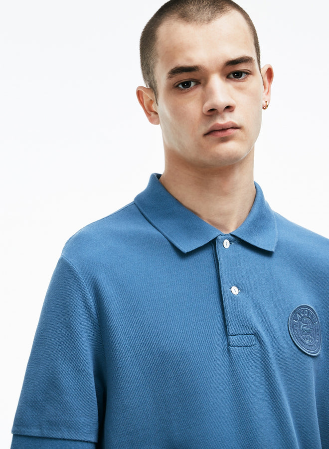Men's Lacoste LIVE Regular Fit Faded Effect Petit Piqué Polo--Supernova