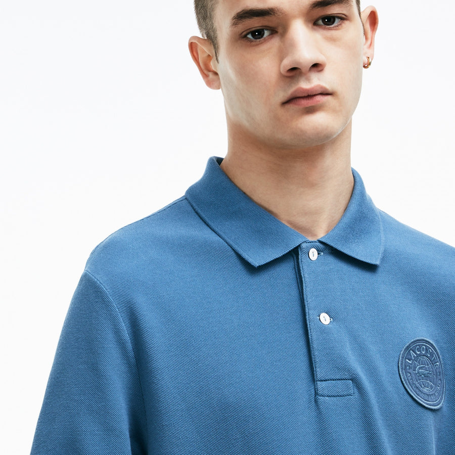Men's Lacoste LIVE Regular Fit Faded Effect Petit Piqué Polo