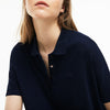 Women's Lacoste Boxy Fit Flowing Stretch Cotton Piqué Polo Shirt
