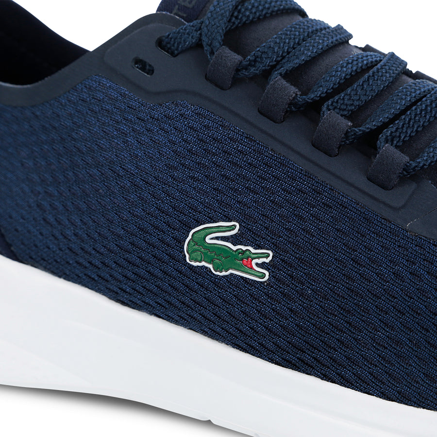 Men's Lt Fit Textile Sneakers--Navy Blue/White