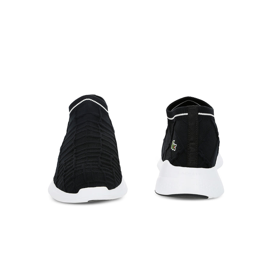 Men's Lt Fit Sock Textile Sneakers--Black/White
