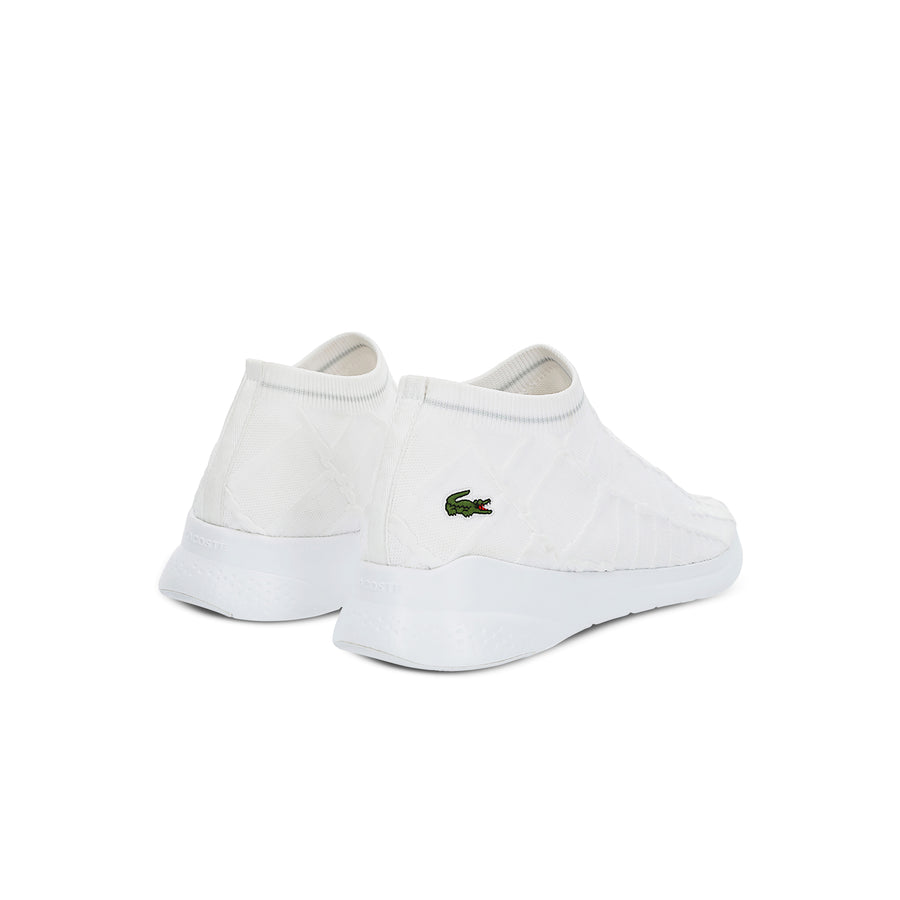 Men's Lt Fit Sock Textile Sneakers--White/Off White