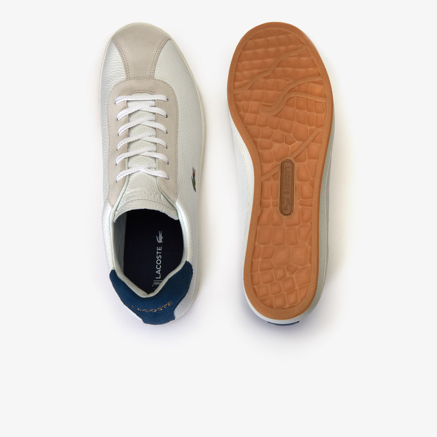 Men's Masters Leather Sneakers--Off White/Navy