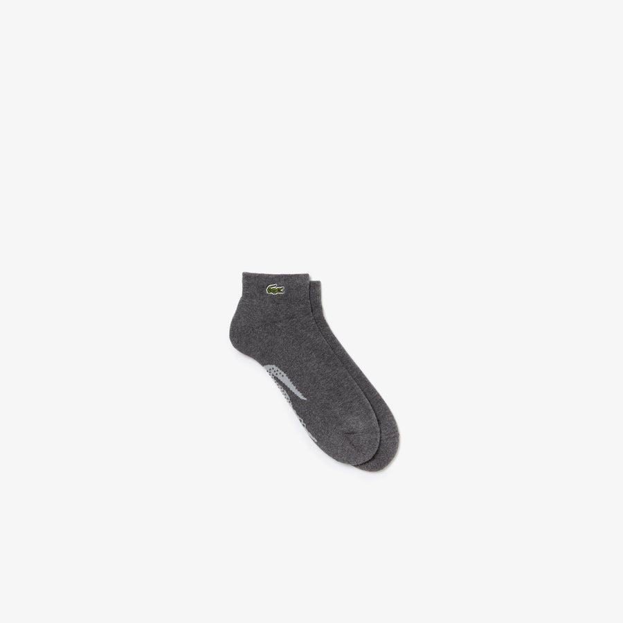 Men's Lacoste SPORT Tennis XL Crocodile Terrycloth Socks--Pitch/Silver Chine