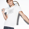 Men's SPORT Crew Neck Tennis Court Print Tech Jersey T-Shirt