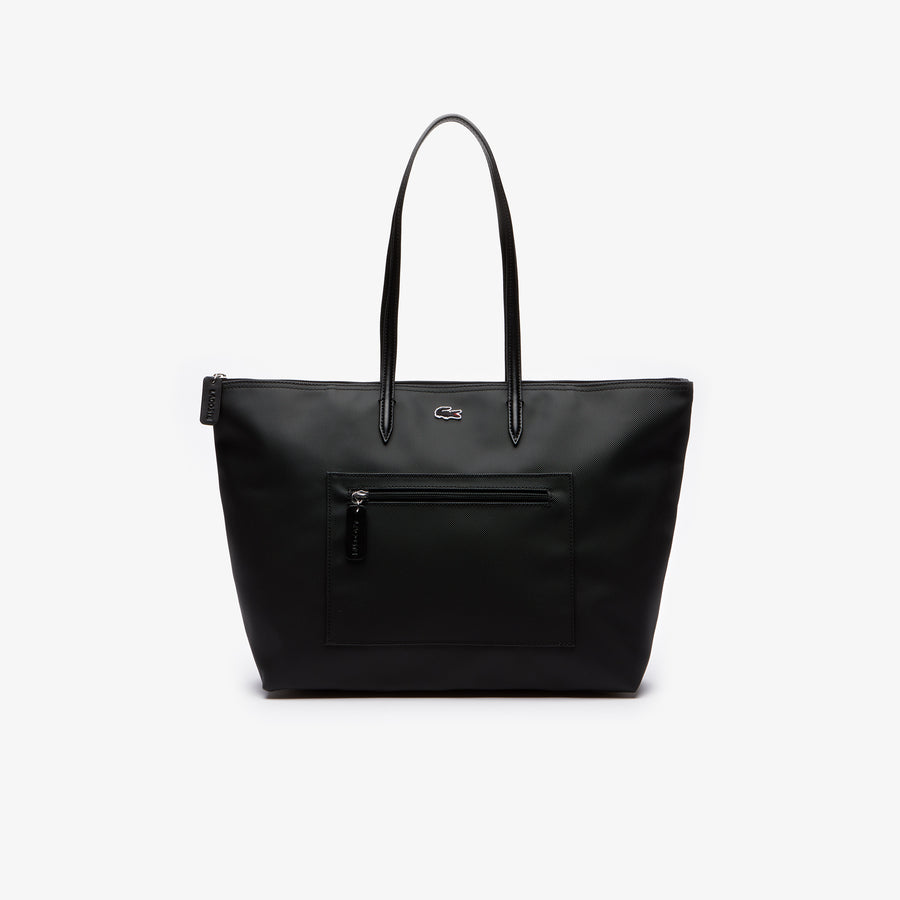 Women's L.12.12 Large Zip Shopping Bag--Black