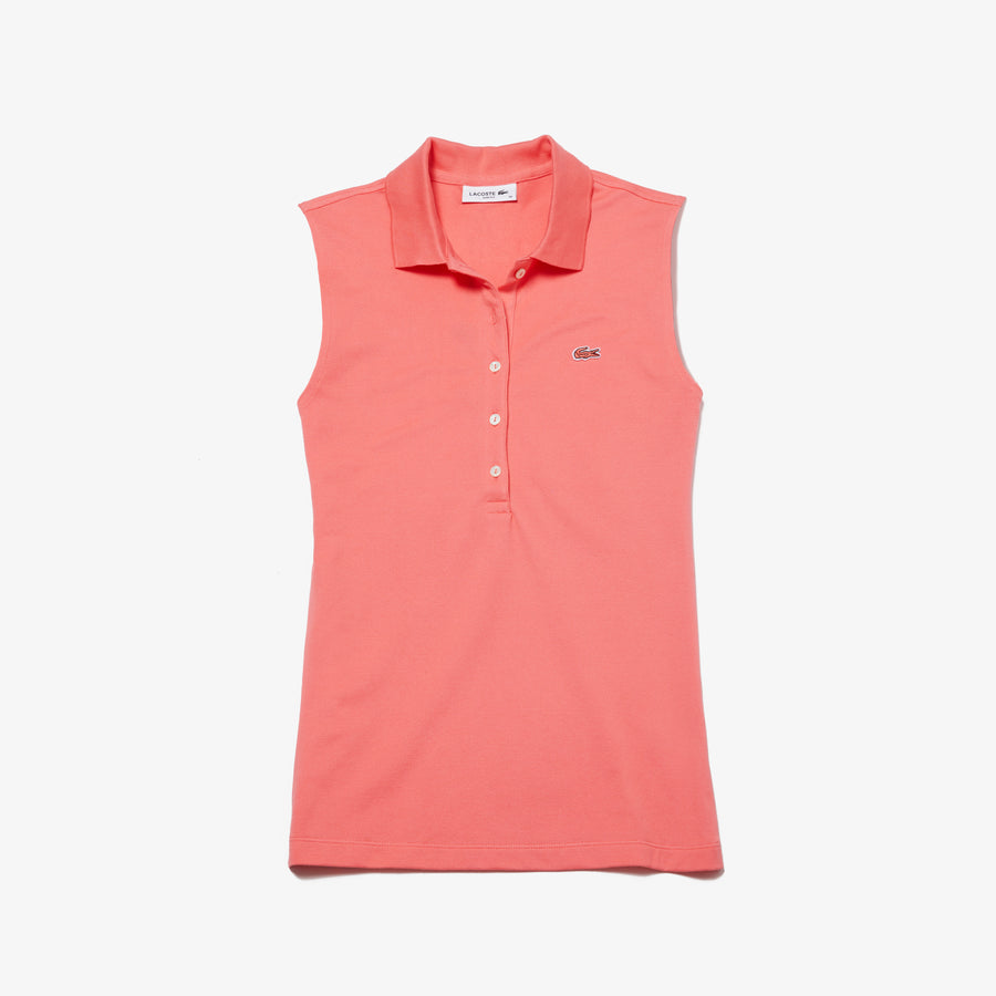 Women's Lacoste Slim Fit Stretch Mini Piqué Polo--Calypso