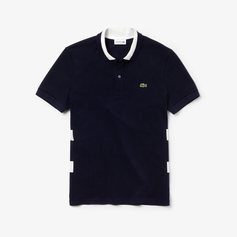 Men's Regular Fit Polo Piqué--Navy Blue/White
