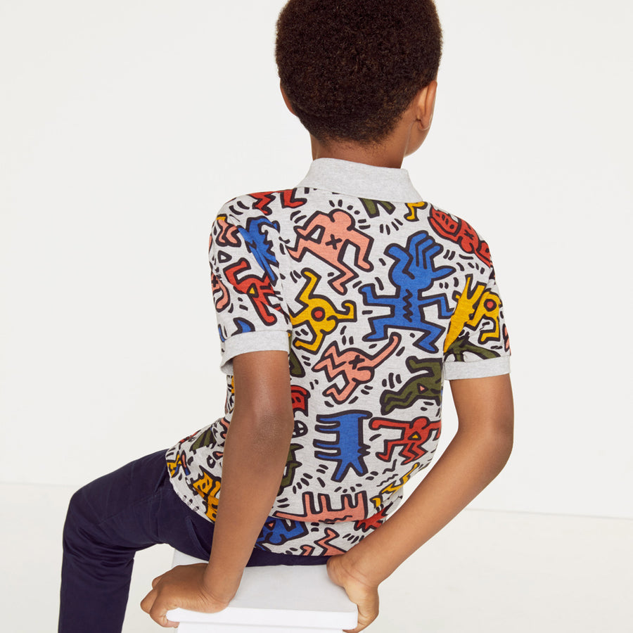 Boys' Lacoste Keith Haring Print Mini Piqué Polo Shirt