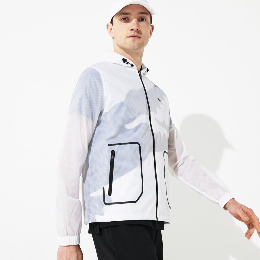 Men's SPORT Oversized Croc Sheer Effect Windbreaker