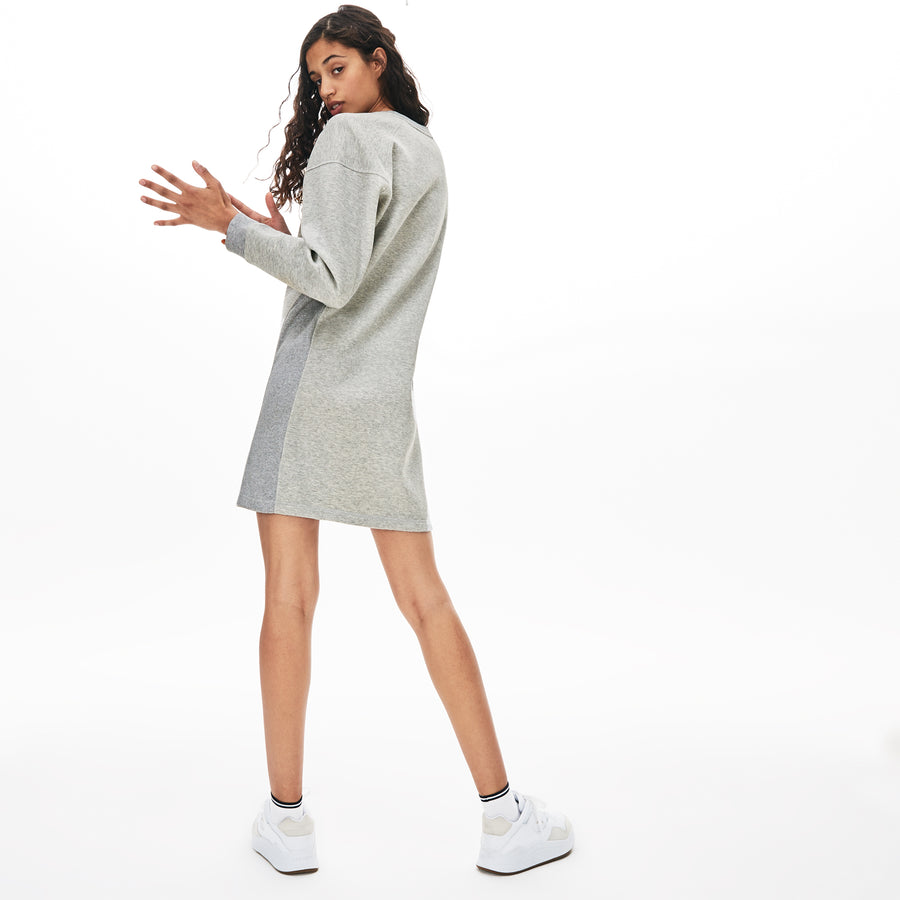 Women's Lacoste Motion Sweatshirt Dress--Grey Chine