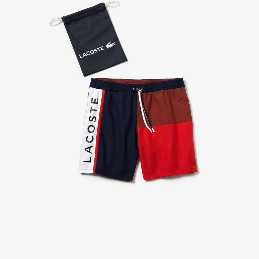 Men's Colorblock Swim Trunks--Navy Blue/Iberis-Salvia-White