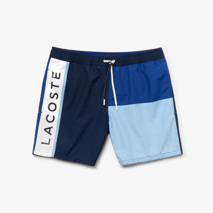 Men's Colorblock Swim Trunks--Navy Blue/Captain-Creek-White
