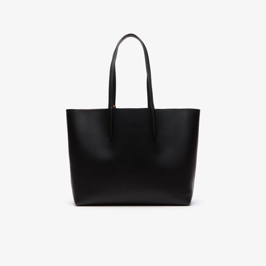 Women's Anna Reversible Matte And Iridescent Leather Tote--Black 2132