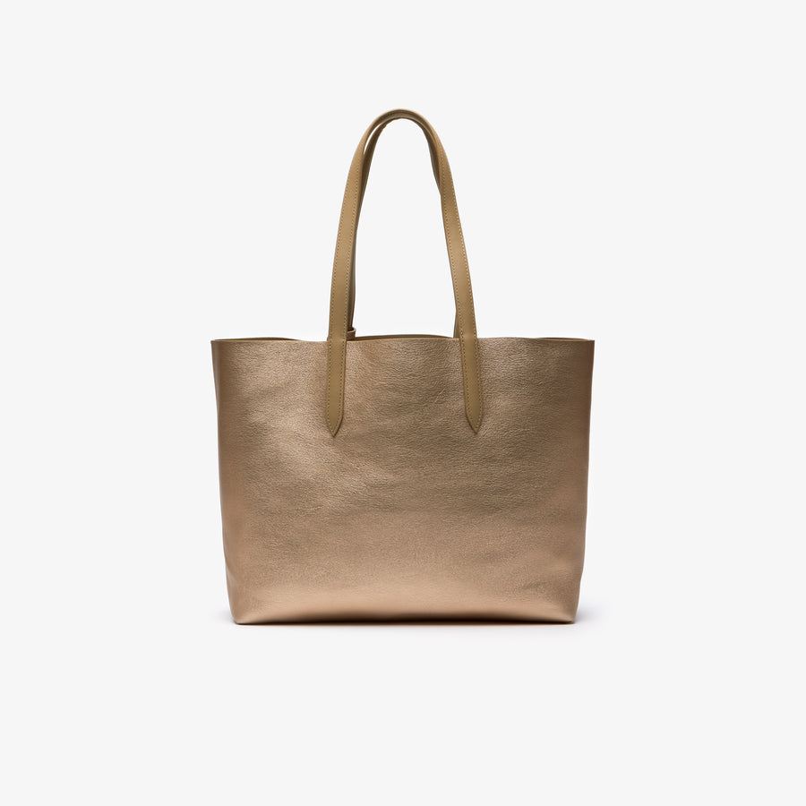 Women's Anna Reversible Matte And Iridescent Leather Tote--Incense 2048
