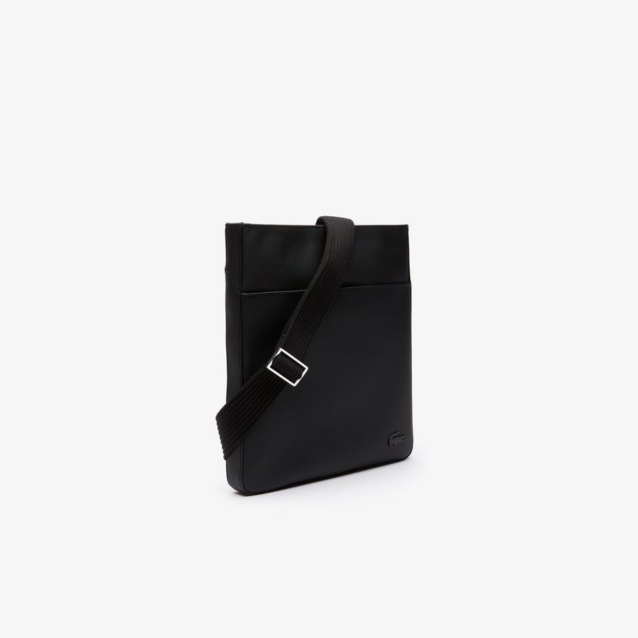 Men's Classic Flat Crossover Bag--Black