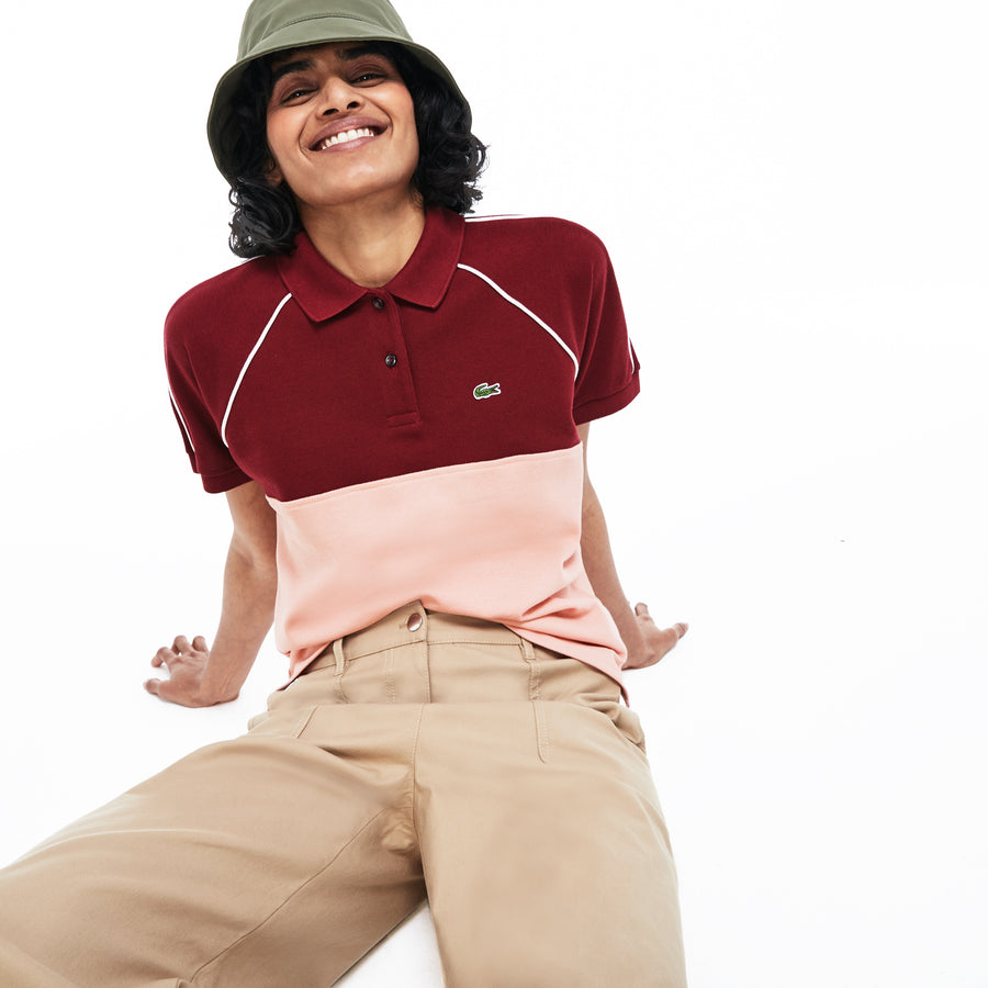Women's Colorblock Polo Piqué