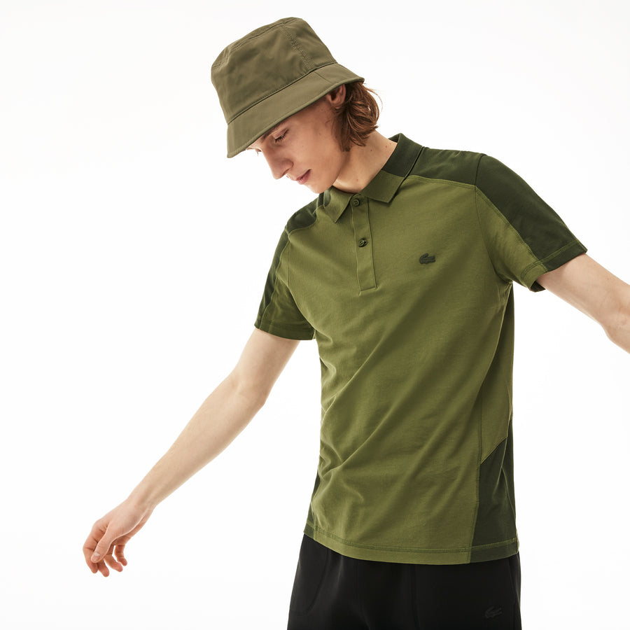 Men's Motion Cotton Polo Piqué--Marsh/Caper Bush