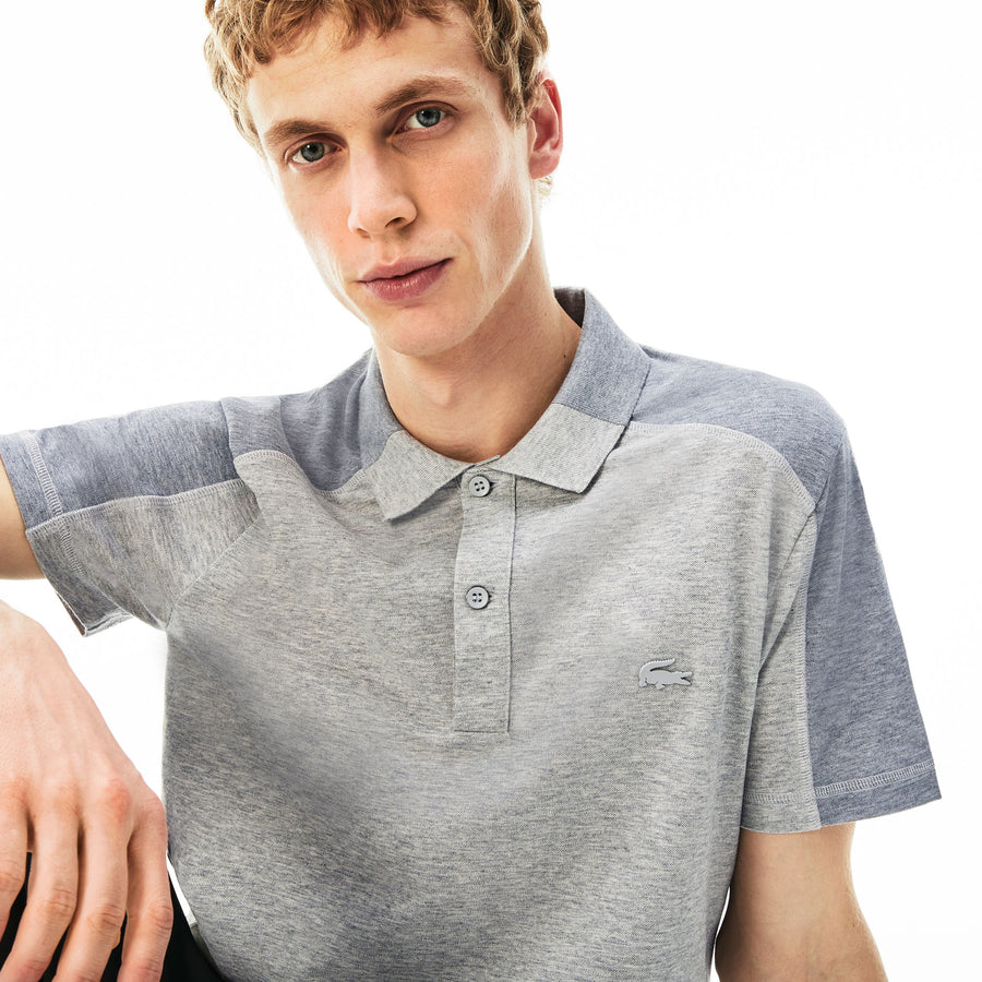 Men's Motion Cotton Polo Piqué--Silver Chine/Whale Calf Chine