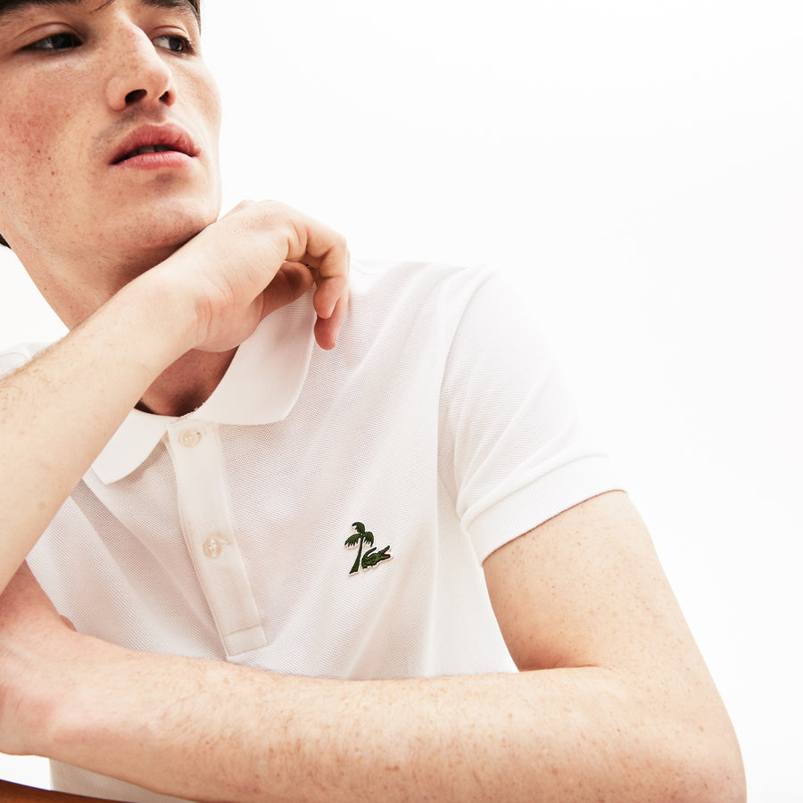 Men's Lacoste Regular Fit Palm Tree Croc Cotton Petit Piqué Polo Shirt