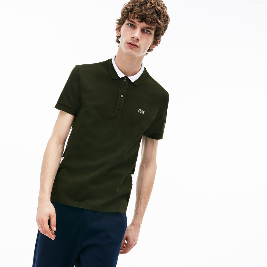 Men's Regular Fit Polo Piqué--Caper Bush/White